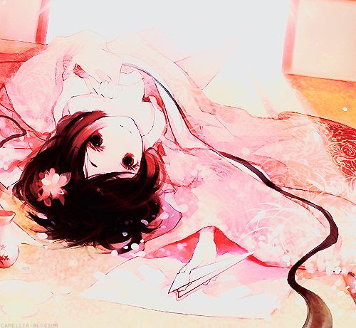 Girl lying on the floor | Awesome Anime! xD ^_^ | Pinterest