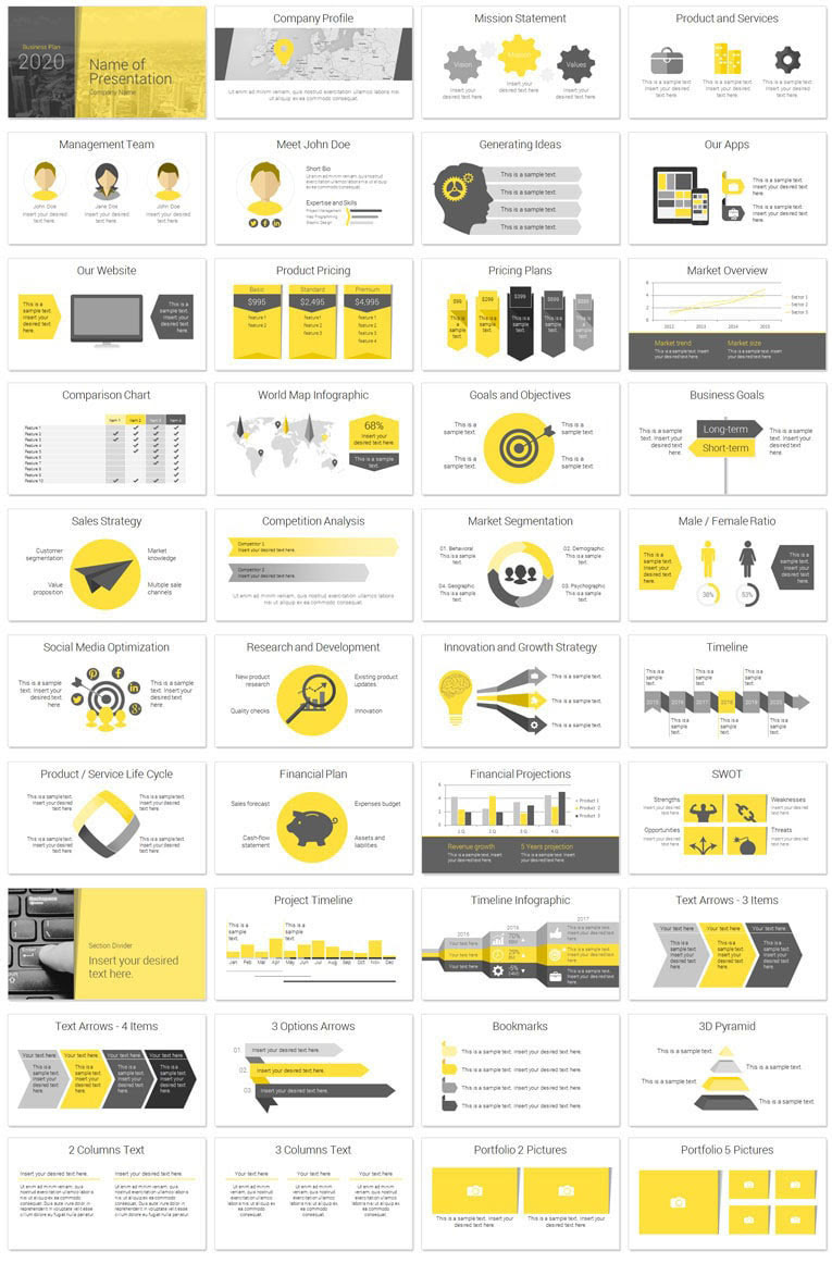 modern business plan deck