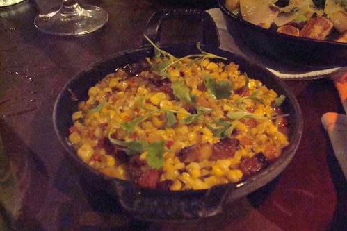 Grilled Sweet Corn, Roasted Chilis, Fontina, Bacon, Polenta