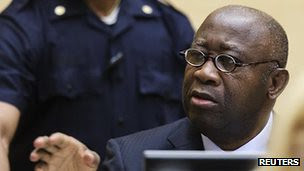 Former Ivory Coast President Laurent Gbagbo appeared at the International Criminal Court (ICC) in The Hague. His government was overthrown by France in 2011. by Pan-African News Wire File Photos