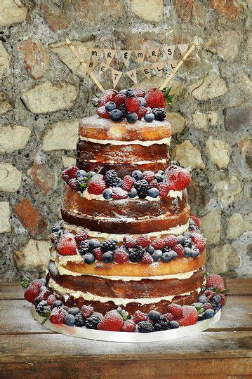 "Love the ""naked"" cakes with berries. Blueberries best for"