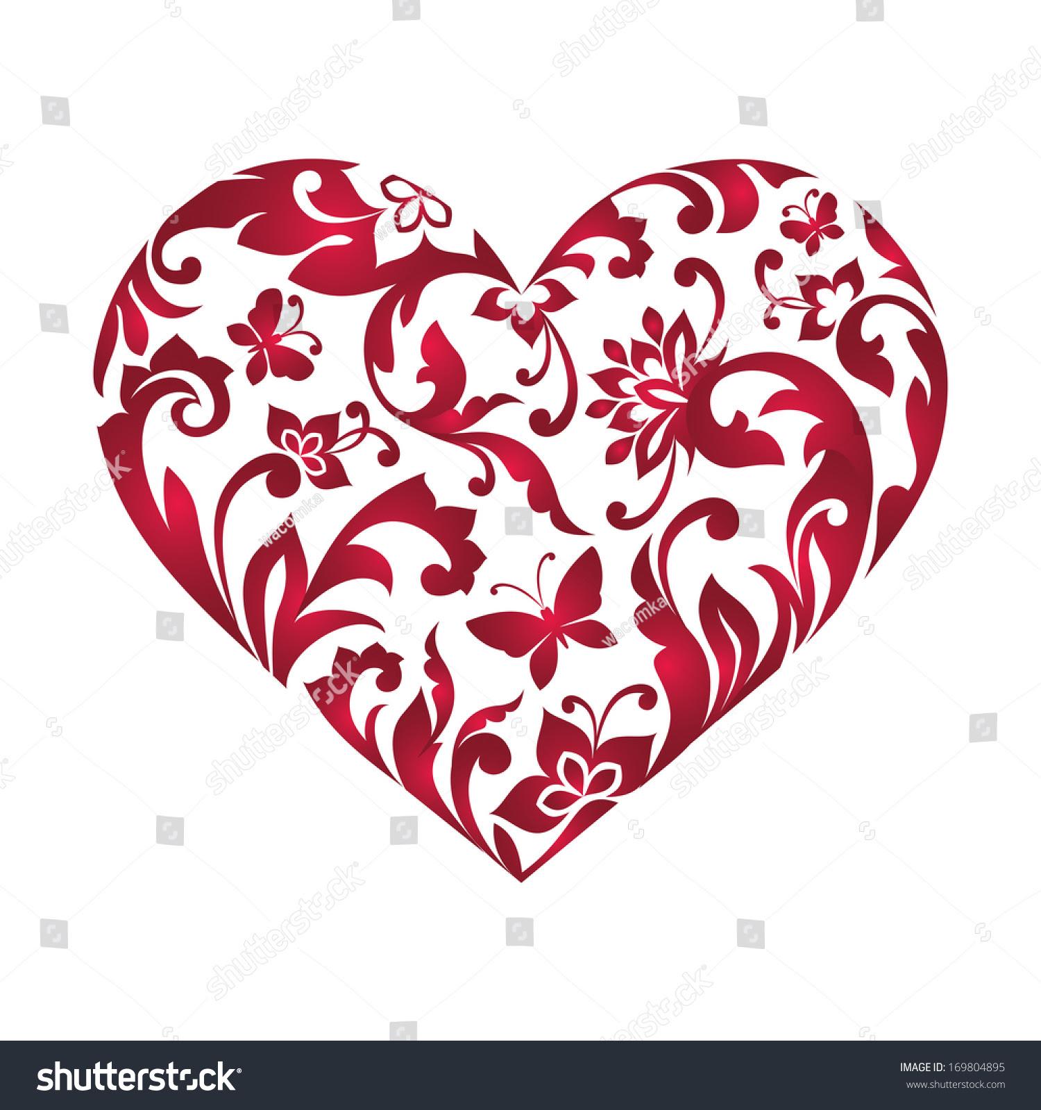 Editable Heart Clipart