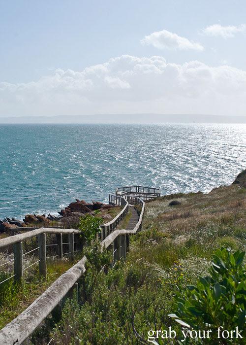 Boardwalk to viewing platform at Penneshaw, Kangaroo Island