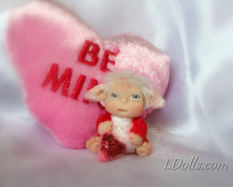 """Valentine  Baby Troll Cute  """"Be Mine Valentine """"  Baby Doll, Decoration for Home, TT Team"""
