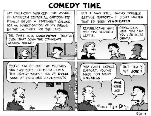 #TedRall LA Times LAPD Scandal: On Hating Ted [cartoon] http://ow.ly/R6kHc