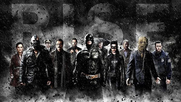 The cast of THE DARK KNIGHT RISES.