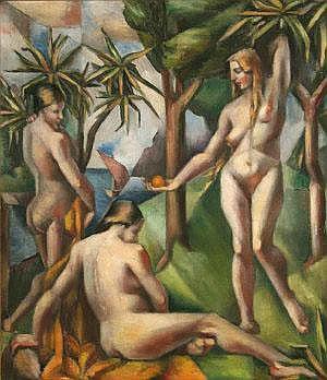 Mainie Jellet (1897-1944) Bathers (1922) details