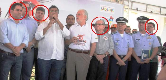 carinhas marcadas: Edivaldo, Evangelista, Castelo e Bira: campanha...mas não contra a Dengue