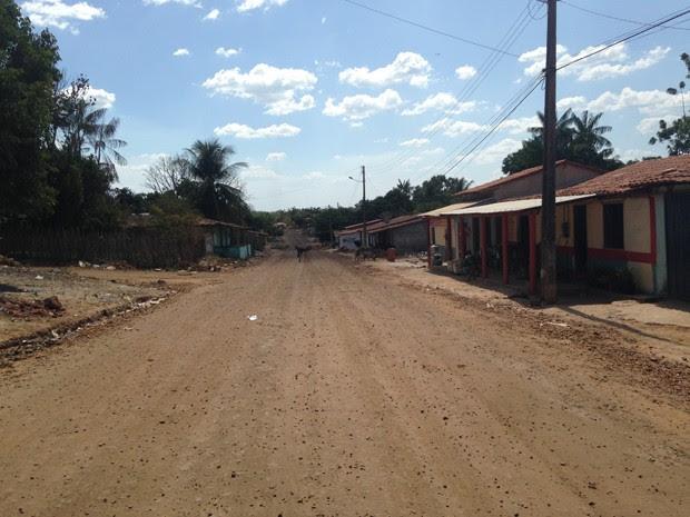 Avenida em Belágua, no leste do Maranhão (Foto: Clarissa Carramilo / G1)