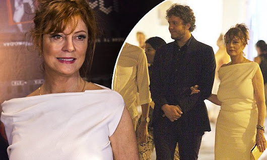 Susan Sarandon looks elegant in white as she steps out with son Jack