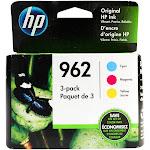 Genuine HP 962 Cyan, Magenta, Yellow Ink, 3 Cartridges (3YP00AN) New