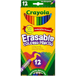 Crayola Erasable Colored Pencils, Assorted - 12 count