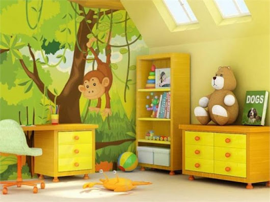 Cartoon Wall Stickers for Kids Rooms Décor