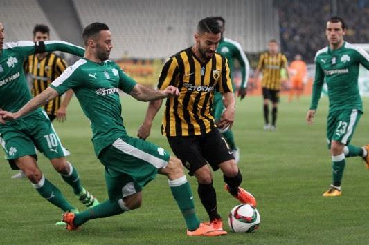 Αποτέλεσμα εικόνας για η ΑΕΚ νίκησε 1-0 τον Παναθηναϊκό