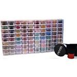 Bundle Of 12 Items:itay Mineral Cosmetics 10x8 Stack Shimmers Eye Shadows +9 Gram Foundation Mf9 (dark)+ Kabuki Brush