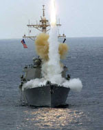 Khu trục hạm USS John S. McCain thực tập phóng hỏa tiễn