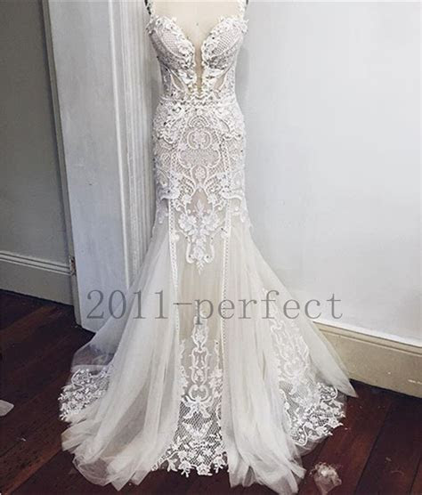 lace wedding dresses white pure mermaid custom lace