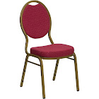 Larks Burgundy Upholstered Stack Dining Chairs (Burgundy Upholstered Stack Dining Chair 1)