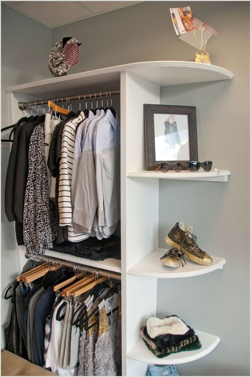 30 Cool and Clever DIY Corner Closet Ideas