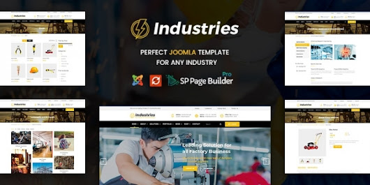 Introducing Industries - The Best Joomla Template For Factory & Industrial Business - JoomlaBuff