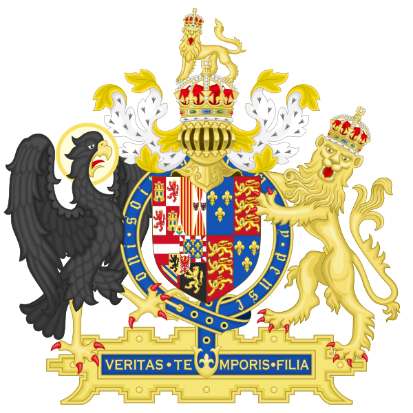 File:Coat of Arms of England (1554-1558).svg