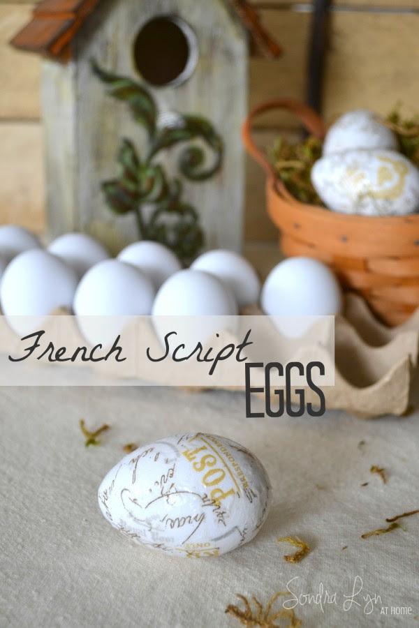 French Script Eggs-Sondra Lyn at Home