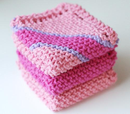 Pink dishcloths