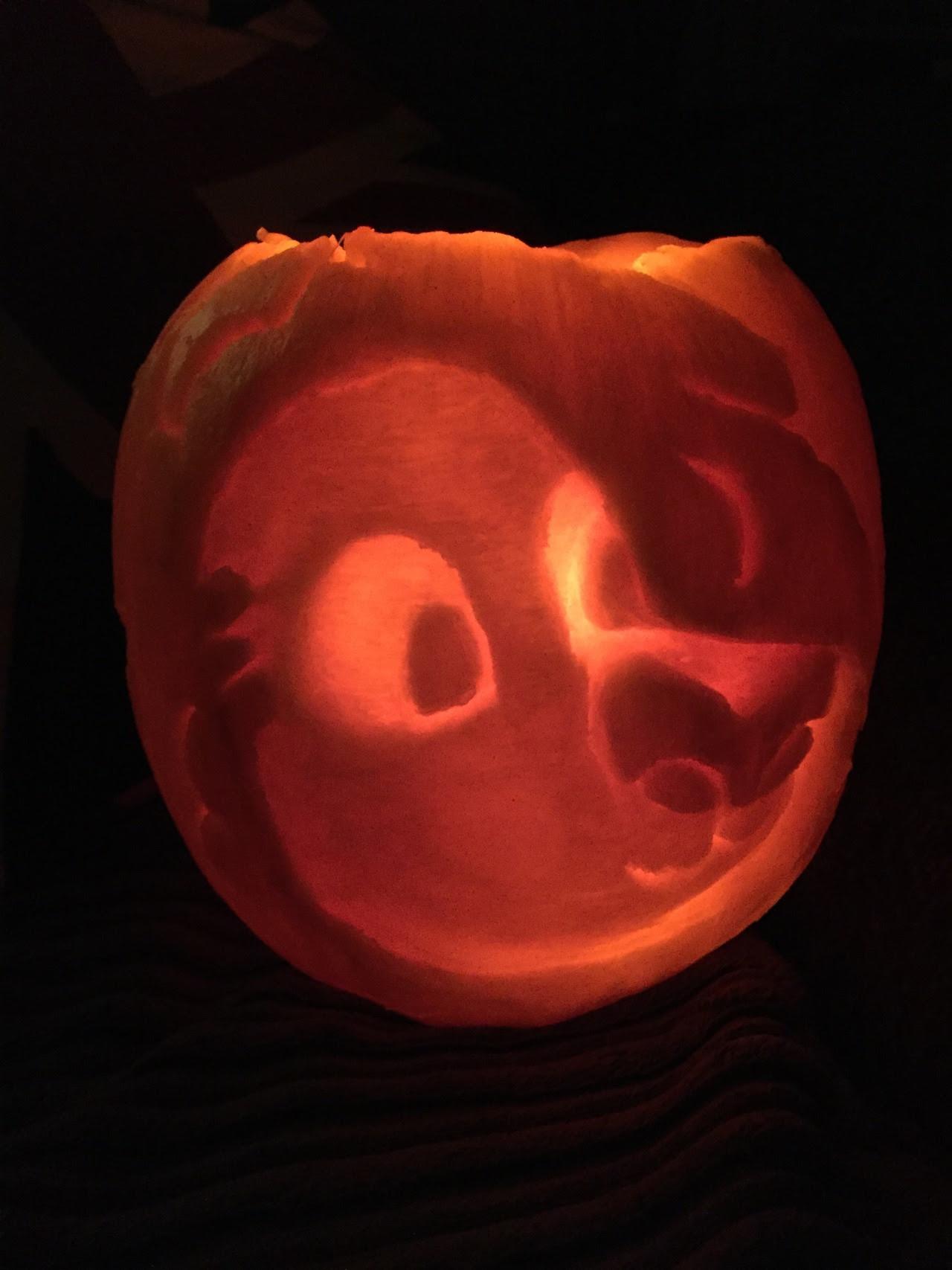 Made a lion pumpkin~