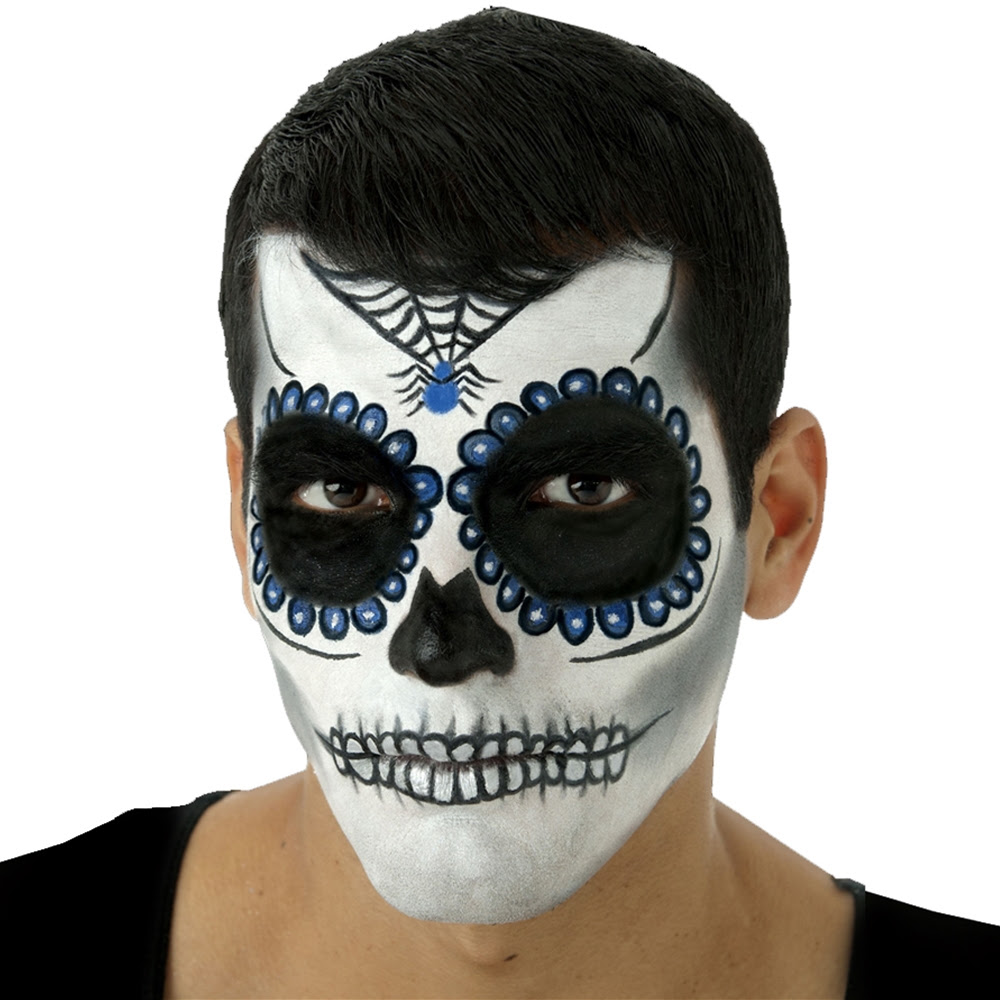 Day Of The Dead Male Makeup Kit 330509 Trendyhalloweencom