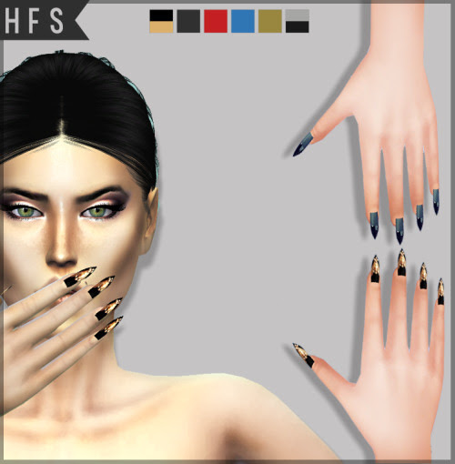 FAME NAILSCustom thumbnail2 models in 6 colorsPlease read terms of use in downloads pageIf you use tag me #hautfashionsimsDownload here |x|