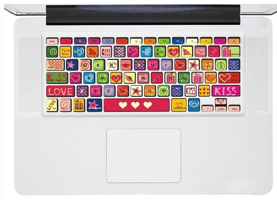 love heart----mac pro decals mac pro stickers  macbook decals stickers macbook  Apple Mac Decal keyboard decals keyboard sticker