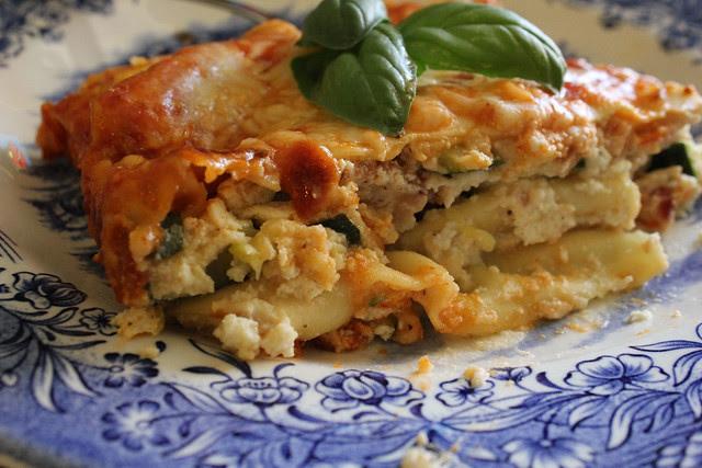 Zucchini & Bacon 3 Cheese Lasagna