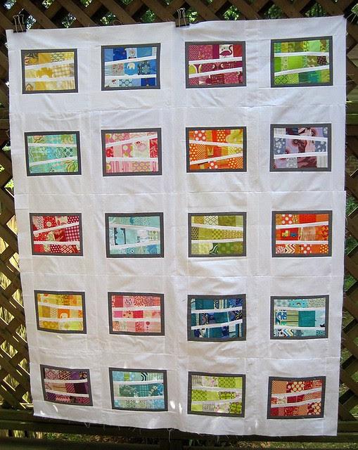 Modern Scrappy quilt top