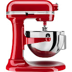 KitchenAid - KitchenAid Pro 5 Plus 5 Quart Bowl-Lift Stand Mixer - Empire Red