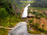 Road broken - no way through