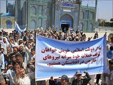 Afghans protest in Mozar-i-Sharif against the civilian deaths resulting from US/NATO military operations inside the country. The death toll for the imperialist forces has escalated despite a troops surge. by Pan-African News Wire File Photos