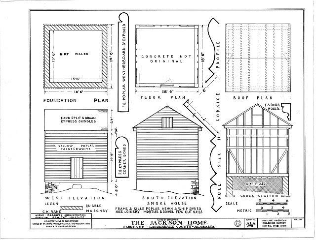 HABS ALA,39-FLO.V,3- (sheet 16 of 18) - Forks of Cypress, Savannah Road (Jackson Road), Florence, Lauderdale County, AL