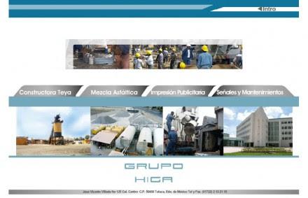 La página web de Grupo Higa.