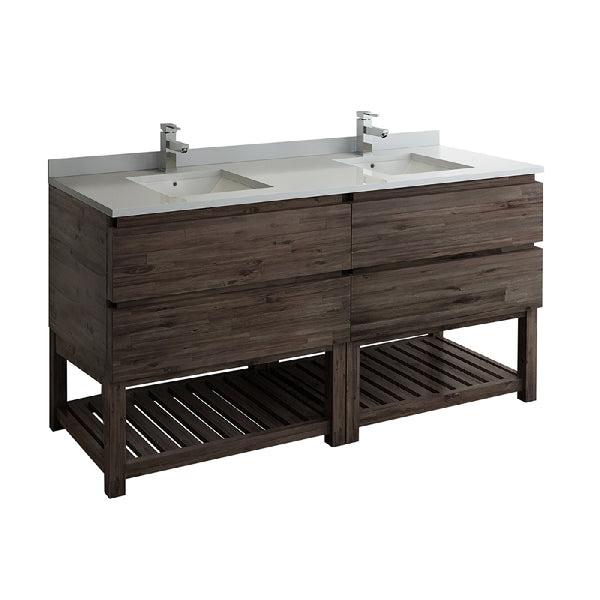 Fresca Formosa 70 Floor Standing Open Bottom Double Sink Modern