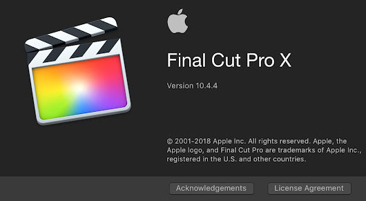 Apple Update Final Cut Pro X to 10.4.4, Motion to 5.4.2 and Compressor to 4.4.2