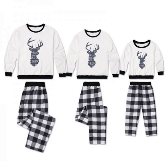 Christmas Family Deer Matching Pajamas & Other great styles! - EnzasBargains.com