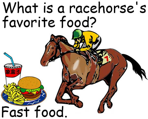 racehorse favorite fast food 快餐