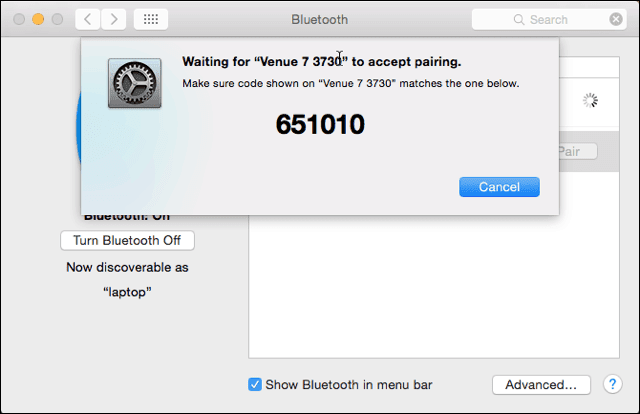 Bluetooth Pairing on the Mac Side