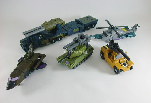 Transformers Combaticons G1 Encore - modo alterno