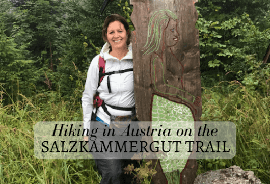 Hiking to Gmunden on the Salzkammergut trail in Austria