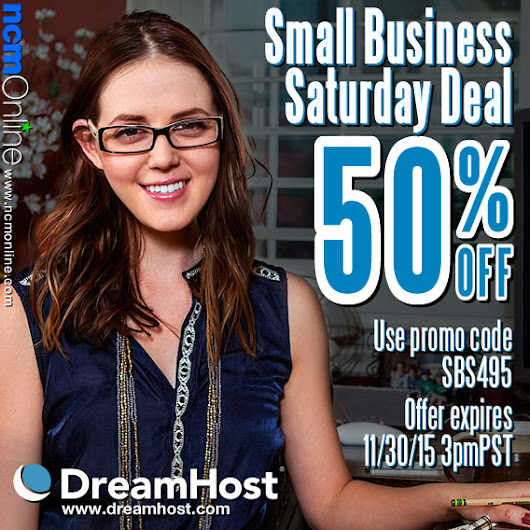 DreamHost Black Friday Cyber Monday Coupon Code 11/29/15 | NCM Online