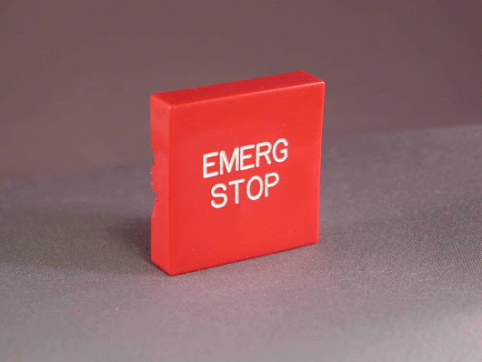 "000179 ""EMERGENCY STOP"" Plastic Button only"
