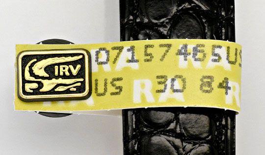 Original-Foto 5, HERREN VLC VENDOME LOUIS CARTIER SILBER GOLD KROKO FALT