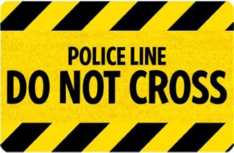 Welcome Mats: Police Line Do Not Cross Mat, SKU   MT 2676