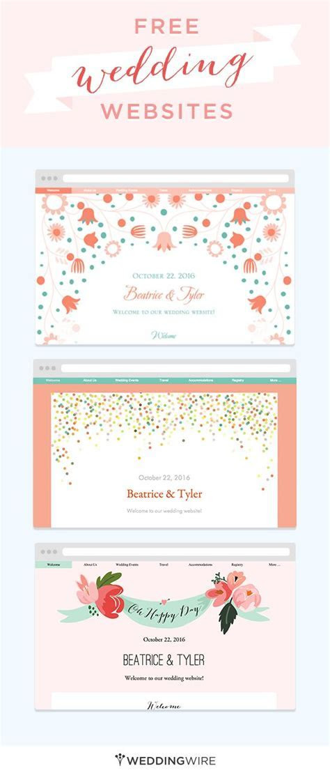 Create a free wedding website to share your info with